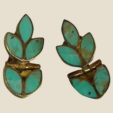 Lovely Vermeil Turquoise Clip-on Earrings