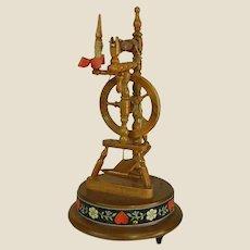 Vintage Cuendet Hand-made in Switzerland Spinning Wheel Music Box