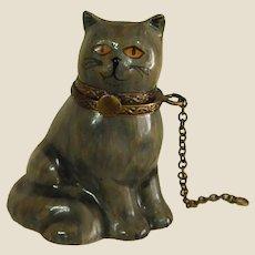 Hard to Find Diminutive Limoges Porcelain Cat Box