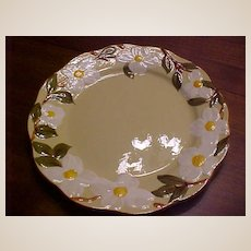 Vintage Hand Painted Stangl White Dogwood Pottery Chop Plate