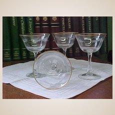 Fostoria Sunglow Sherbet/Champagne Stems
