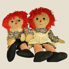 Well-Loved 1970s Raggedy Ann and Andy