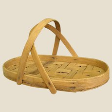 Wonderful Splint Woven Gathering Basket