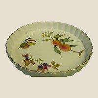 "Royal Worcester Evesham Gold Porcelain 10 1/4"" Quiche Dish"