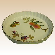 "Royal Worcester Evesham Gold Porcelain 10 1/4"" Quiche Dish"