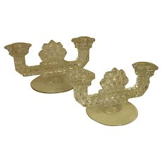 Popular American Fostoria Double Light Candle Holders
