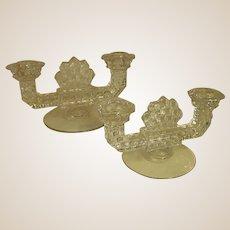 Popular American Fostoria Double Light Candle Holders
