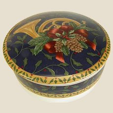 Mikasa Porcelain Holiday Candy or Vanity Box
