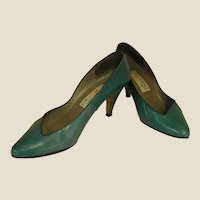 Gorgeous 1986 Teal Kid Liz Claiborne Heels
