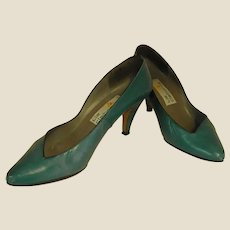 Gorgeous 1986 Teal Kid Liz Claiborne Heels
