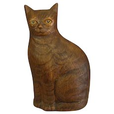 Darling Vintage Pottery Cat Figure