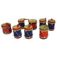 Old Patriotic Holiday Drum Ornaments