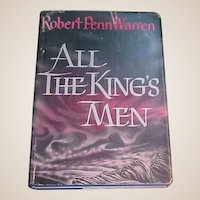 Book All the King's Men First Edition Sixth printing