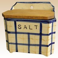 Vintage Pottery Wall Salt Box
