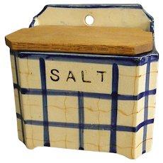 Vintage Pottery Wall Salt Box