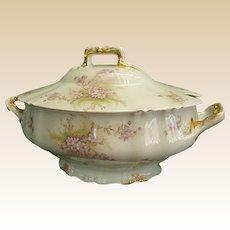 Gorgeous Theodore Haviland Porcelain Tureen, 1895-1903