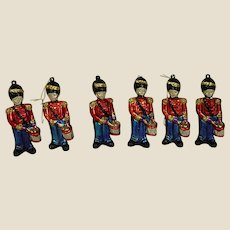 Set of Six Patriotic Red and Blue Soldier Holiday Ornaments/Decorations