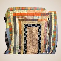 Colorful Geometric Pattern Quilt Top