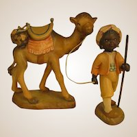 "ANRI Camel and Camel Guide from 6"" Nativity Set by Juan Ferrandiz"