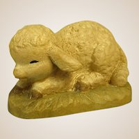 "ANRI Crouching Lamb from 6"" Nativity Set by Juan Ferrandiz"