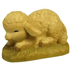 "ANRI Crouching Lamb from 6"" Nativity Set by Juan Ferrandiz"