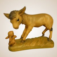 "ANRI Donkey and Rabbit from 6"" Nativity Set by Juan Ferrandiz"