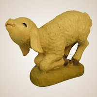 "ANRI Kneeling Lamb from 6"" Nativity Set by Juan Ferrandiz"