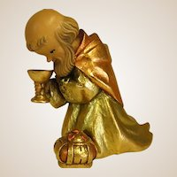 "ANRI Childlike Kneeling Wise Man from 6"" Nativity Set by Juan Ferrandiz"