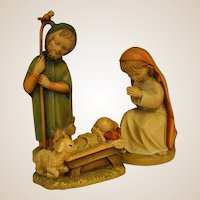 ANRI Childlike Mary, Joseph and Baby Jesus by Juan Ferrandiz