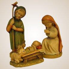 ANRI Childlike Mary, Joseph and Baby Jesus by Juan Ferrandiz
