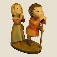 "ANRI ""Reverence"" Boy and Girl from 6"" Nativity Set by Juan Ferrandiz"