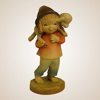 "ANRI Childlike Shepherd from 6"" Nativity Set by Juan Ferrandiz"