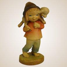 """ANRI Childlike Shepherd from 6"""" Nativity Set by Juan Ferrandiz"""