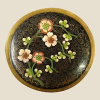 Antique Chinese Cloisonné Prunus Nib or Pin Dish