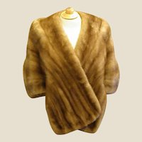 Gorgeous 1950-60s Medium Brown Mink Stole