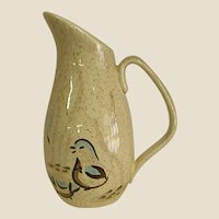 Mid-Century Bob White Pattern by Red Wing Quail Cream Pitcher