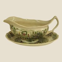 Johnson Brothers Merry Christmas Gravy Boat