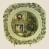 Johnson Brothers Merry Christmas Square Salad Plates