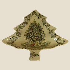 Johnson Brothers Merry Christmas Tree Shaped Side Plates