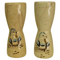 Mid-Century Bob White Pattern by Red Wing Quail Large Salt and Pepper