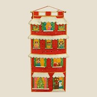 Darling 1960s Sequined Felt Christmas Card Holder/Wall Hanging