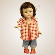1954 SLW Vogue Ginny Doll in Jeans and Checked Top