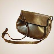 Luxuriously Soft Brown Leather Ferragamo Shoulder Bag