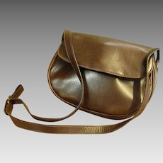 Luxuriously Soft Brown Leather Ferragamo Shoulder Bag