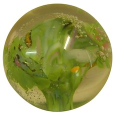 Signed Studio Art Glass Small Paperweight