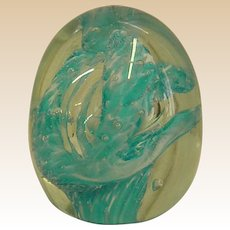 Signed Studio Art Glass Paper Weight by Ulschak