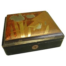 Charming Old Asian Lacquerware Box