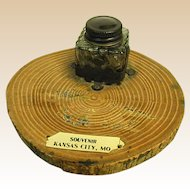 1920s Souvenir Inkwell from Kansas City