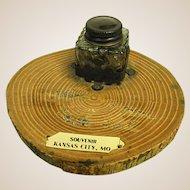 1920s Souvenir Inkwell from Kansas City