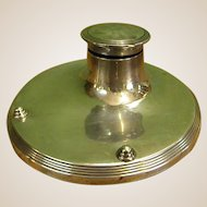 1920s Silver English Capstan Inkwell